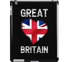 Great Britain - British Flag Heart & Text - Metallic iPad Case/Skin