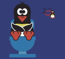 Bathroom Penguin - Toilet (Smelly Poo!) by jimcwood