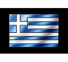 Greek Flag - Greece - Metallic Photographic Print