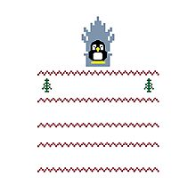 LINUX IS COMING - CHRISTMAS SWEATER Photographic Print
