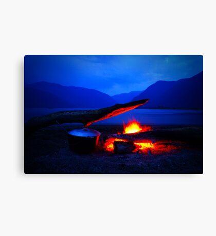 Warm night Canvas Print