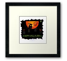 Holloween design Framed Print