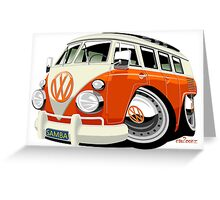 VW Type 2 bus Greeting Card