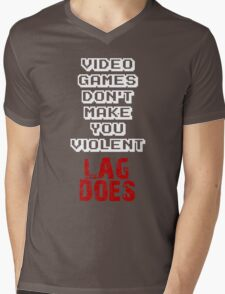 Fault of Lag Mens V-Neck T-Shirt