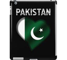 Pakistan - Pakistani Flag Heart & Text - Metallic iPad Case/Skin
