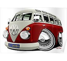 VW split-screen bus Poster