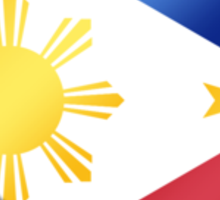 Filipine Flag - Philippines - Heart Sticker