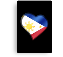 Filipine Flag - Philippines - Heart Canvas Print