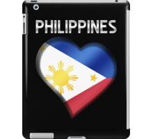 Philippines - Filipine Flag Heart & Text - Metallic iPad Case/Skin