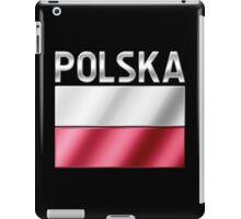 Polska - Polish Flag & Text - Metallic iPad Case/Skin