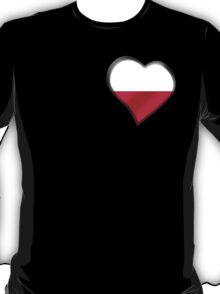 Polish Flag - Poland - Heart T-Shirt