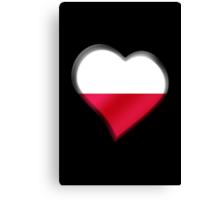 Polish Flag - Poland - Heart Canvas Print