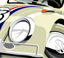 VW Beetle Herbie the Lovebug Sticker