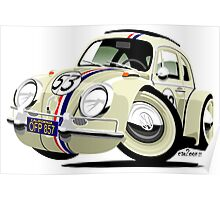 VW Beetle Herbie the Lovebug Poster