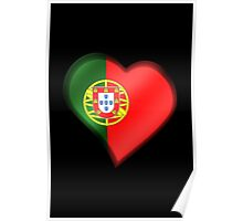 Portuguese Flag - Portugal - Heart Poster