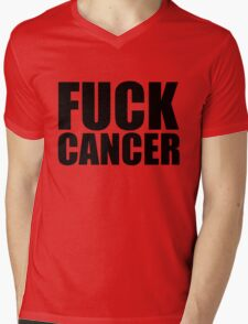 Fuck Cancer Mens V-Neck T-Shirt