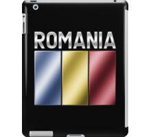 Romania - Romanian Flag & Text - Metallic iPad Case/Skin