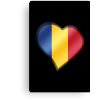 Romanian Flag - Romania - Heart Canvas Print