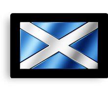 Scottish Flag - Scotland - Metallic Canvas Print