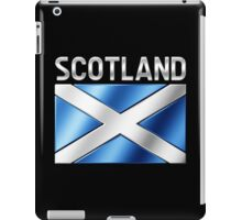 Scotland - Scottish Flag & Text - Metallic iPad Case/Skin