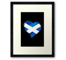 Scottish Flag - Scotland - Heart Framed Print