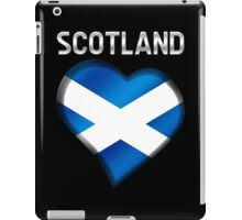 Scotland - Scottish Flag Heart & Text - Metallic iPad Case/Skin