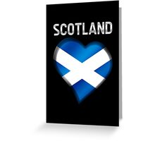 Scotland - Scottish Flag Heart & Text - Metallic Greeting Card