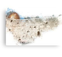 wailing wall and dome of the rock in Jerusalem, Israel Canvas Print