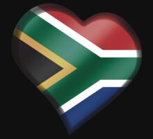 South African Flag - South Africa - Heart by graphix