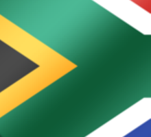 South African Flag - South Africa - Heart Sticker