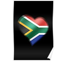 South African Flag - South Africa - Heart Poster