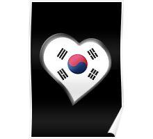 South Korean Flag - South Korea - Heart Poster