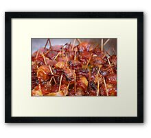 Scallops wrapped in bacon Framed Print