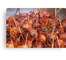 Scallops wrapped in bacon Canvas Print