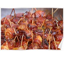 Scallops wrapped in bacon Poster