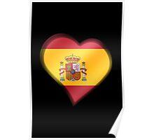 Spanish Flag - Spain - Heart Poster