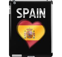 Spain - Spanish Flag Heart & Text - Metallic iPad Case/Skin