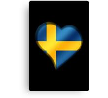 Swedish Flag - Sweden - Heart Canvas Print