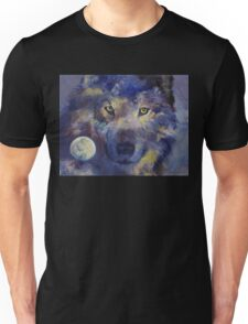 Grey Wolf Moon Unisex T-Shirt