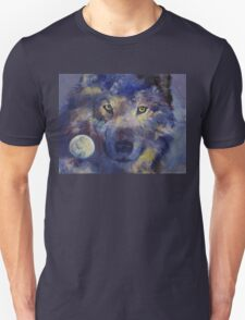 Grey Wolf Moon Unisex T-Shirt