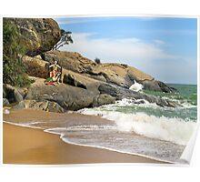 Sculptures, Beach Art, Thailand. Poster