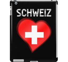 Schweiz - Swiss Flag Heart & Text - Metallic iPad Case/Skin