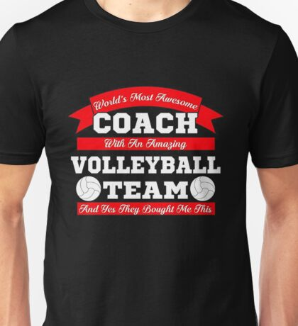 Awesome Volleyball Coach Tshirt Unisex T-Shirt