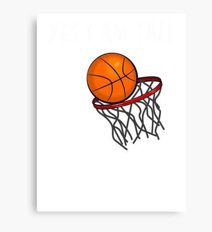 I Don't Play Basketball #2 (Black) Canvas Print