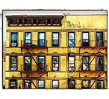 NYC Yellow Building 2 Photographic Print