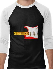 Red Guitar Men's Baseball ¾ T-Shirt