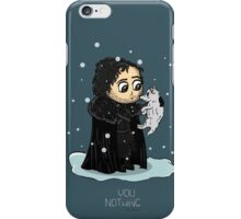 You know nothing Jon Snow iPhone Case/Skin