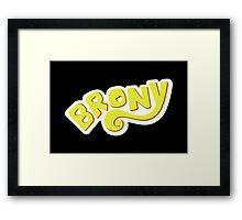 Brony Logo - Yellow Framed Print