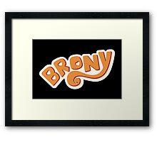Brony Logo - Orange Framed Print
