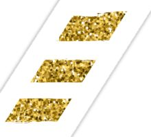 Zeta Sparkle Glitter Gold Z Sticker